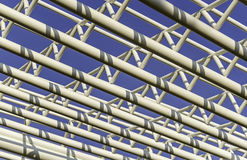 Metal structure roof Royalty Free Stock Photo