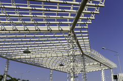 Metal structure roof Stock Photo