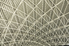 Roof structure. Metal structure of the roof Stock Image