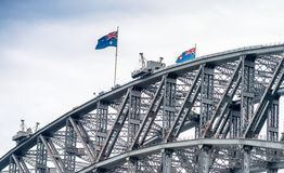 Metal structure of Sydney Harbour Bridge, New South Wales - Aust Royalty Free Stock Image
