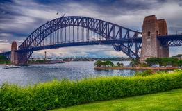 Metal structure of Sydney Harbour Bridge, New South Wales - Aust Stock Photography