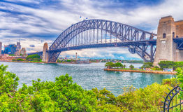 Metal structure of Sydney Harbour Bridge, New South Wales - Aust Royalty Free Stock Photo