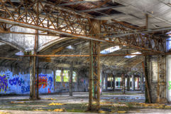 Metal structure. In a tagged hall Royalty Free Stock Images