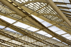 Metal structured roof Royalty Free Stock Photos