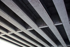Metal structures. A view under a construction showing metal structures and bars royalty free stock photo