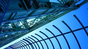 Metal structures of the Jacques Cartier Bridge. In Montreal Canada stock photography