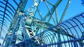Metal structures of the Jacques Cartier Bridge. In Montreal Canada royalty free stock photography