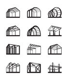 Metal structures in perspective Royalty Free Stock Images