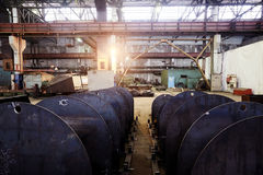 Metal structures at the plant Stock Photography