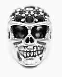 Metal studded skull ornament closeup Stock Images