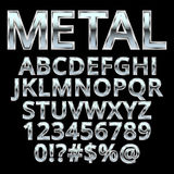 Metal style alphabet . Font for design Stock Photos
