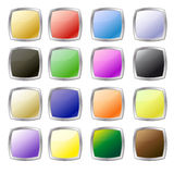 Metal style web buttons Stock Images