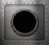 Metal submarine or ship porthole window Royalty Free Stock Image