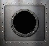 Metal submarine or ship porthole window Royalty Free Stock Image