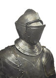 Metal suit of armor isolated. Stock Photography