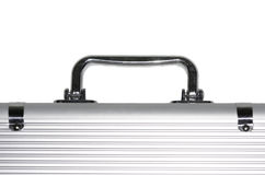Metal suitcase handle. Isolated on white background Stock Images