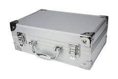 Metal suitcase, isolated Stock Image