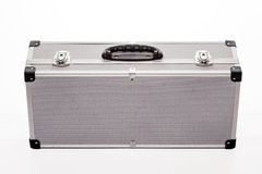 Metal suitcase. Isolated on a white background Royalty Free Stock Image