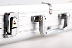 Metal suitcase lock Royalty Free Stock Image