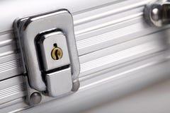 Metal suitcase lock Stock Image