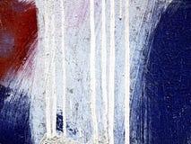 Metal superficial con la pintura vieja Imágenes de archivo libres de regalías