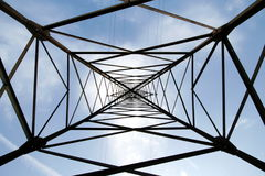 Metal support of an electric transmission line Stock Photography