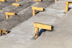Metal supports for benches Royalty Free Stock Photography