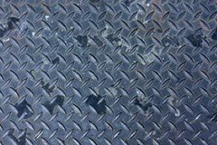 Metal surface. A metal textured surface used as a basement door Royalty Free Stock Photography