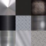 Metal surface. Design set of metal surfaces royalty free illustration