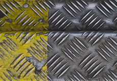 Metal surface. Worn metal surface painted with yellow royalty free stock photo