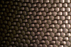 Metal surface in the form of polygons Stock Photography