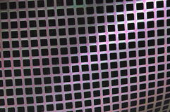 Metal surface with holes Stock Photography
