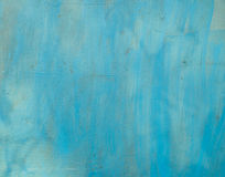 Metal surface painted in blue color Stock Photography