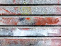 Metal  surface painted with  several colours Stock Photography