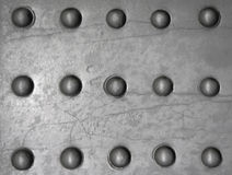 Metal surface with rivets Stock Image