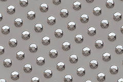 Metal surface with rivets Stock Images