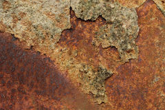 Metal surface with traces of corrosion Royalty Free Stock Photos