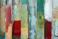 Metal surfaces painted with multicolored paint Royalty Free Stock Image