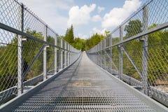 Metal Suspension Bridge Stock Photo
