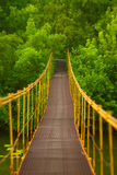 Metal suspension bridge Stock Images
