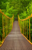 Metal suspension bridge Stock Photo
