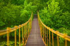 Metal suspension bridge Stock Photography
