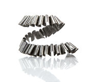 Metal Swarf. On white background royalty free stock images