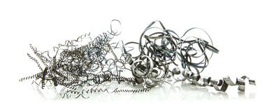 Metal Swarf on white Stock Photography