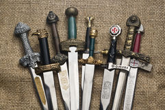 Metal swords Stock Photography