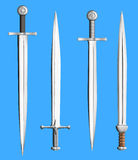Metal swords collection isolated Stock Images