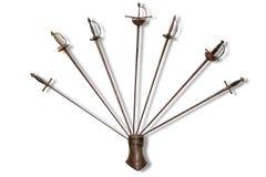 Metal swords. Royalty Free Stock Photo