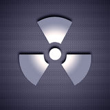 Metal symbol. Atomic symbol with 3d effect, symbol isolated on metal background. Steel background Royalty Free Stock Image