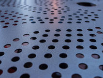 Metal table top design Royalty Free Stock Image