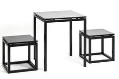Metal table with two chairs Royalty Free Stock Image